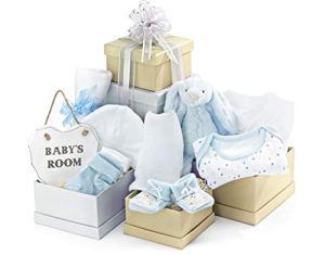 Tour cadeau bébé bleu