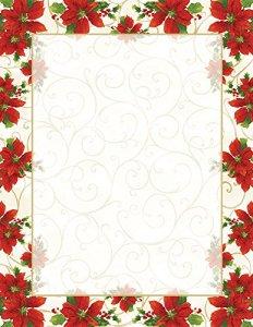 Great Papers! Blush Roses 2014334 Tête de lettres 80 fils 21,6 x 27,9 cm Poinsettia – Tourbillon 80 Sheets Poinsettia Swirl