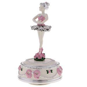 sharprepublic Ballerina Rotate Music Box Collection pour Cadeau De Mariage – Rose