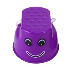 Sunnyflowk Drôle En Plastique Enfants Enfants En Plein Air Amusant Marche Échasser Sauter Sourire Visage Motif Sport Balance Formation Jouet Meilleur Cadeau (violet)