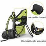 besreySupport de Dos pour Porte-bébé, Trekking Support de Dos pour Porte-bébé pour les Excursions, pour les Voyages -Vert