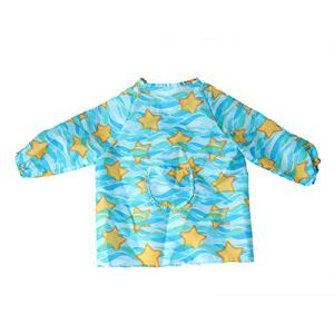 Blouse imperméable pour enfants anti-poussière, étanche à la poussière, imperméable empêche les vêtements de bébé de se salir en les mettant – jaune – M