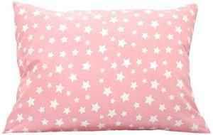 Comfy Turtles Taie d'oreiller pour enfant 13 x 18 cm Étoiles roses Small