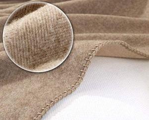 Couverture en cachemire Portofino–avec motif à chevrons Couverture en laine double face 150x 220cm