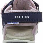 Geox B Sandal AGASIM Girl E, Bout Ouvert Bébé Fille, Bleu (Navy/Pink C0694), 24 EU