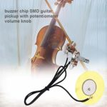 Idyandyan 50 mm Guitare Prise de Son Ukulele Violon Mandoline Type de Disque o Ramassage chaîne Accessoires Instrument