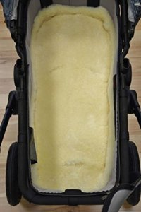 Lammfell Baby Poussette médicale en laine mérinos pour siège enfant lavable 80 x 40 cm