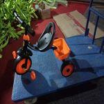 Luoshan Enfants Trois Roues Draisienne Scooter Portable Vélo Non Pédale vélo Trotteur Voiture (Noir) (Color : Blue)