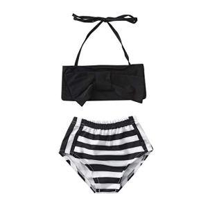 Maillots de Bain Bikini Plage Filles Bébé Maillot de Bain à imprimé Arc et Rayures Eté Fashion Décontracté Swimsuit