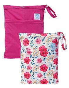 Maman et bb Nature – Lot 2 Sacs imperméables pour couches lavables 2 poches – Spring