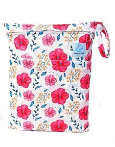 Maman et bb Nature – Sac imperméable pour couches lavables 2 poches anse à pression – Spring