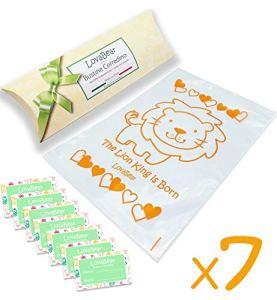 SweetBaby Lot de 6 sachets à lanière pour nouveau-né avec fermeture par curseur hermétique pour sac à main