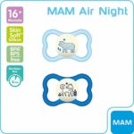 Tétine en silicone MAM – 68299511 – « Air Night »  (Design assorti)