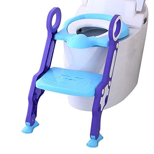 Wanlianer-Baby Products Siège de Toilette rembourré Anti-dérapant pour Enfant (Couleur : Bleu, Design : Padded)