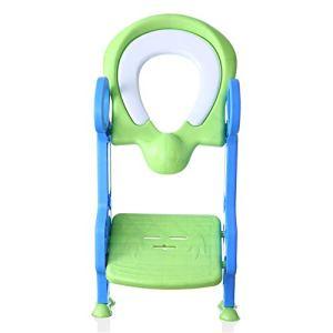 Wanlianer-Baby Products Siège de Toilette rembourré Anti-dérapant pour Enfant (Couleur : Vert, Design : Padded)
