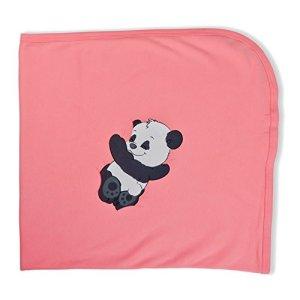 Cudaboo Panda Couverture pour bébé Rose 90 x 90 cm