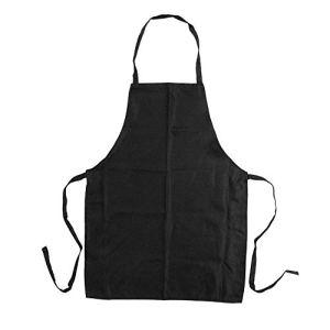 Halter Tablier avec poches pour jardinage cuisson Peinture Craft N-count Tablier (Noir)