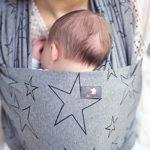 HOPPEDIZ® Écharpe porte-bébé extensible aubergine