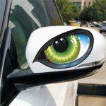 Itscominghome 1 paire d'autocollants 3D Mystérieux yeux de chat pour voiture Vert