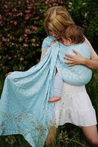 Little Grenouille Anneau à écharpe de poussière laiteuse Bleu Taille M 500 g