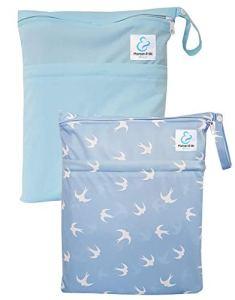 Maman et bb Nature – Lot 2 Sacs imperméables pour couches lavables 2 poches – Envol