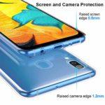 Oihxse Mode Motif de Diamant Case Compatible pour Samsung Galaxy A9s Coque Silicone Ultra Mince Transparent Souple Bumper Crystal Clair Anti-Rayures Antichoc Protection Cover,Diamant 3