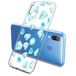 Oihxse Mode Motif de Diamant Case Compatible pour Samsung Galaxy S8 Plus Coque Silicone Ultra Mince Transparent Souple Bumper Crystal Clair Anti-Rayures Antichoc Protection Cover,Diamant 2