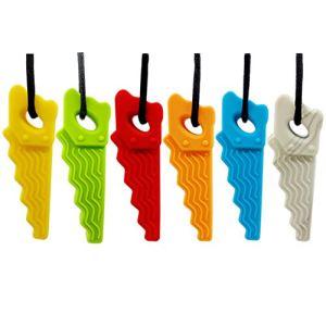 WEDFTGF Lot de 6 colliers à mâcher sensoriel pour garçons et filles