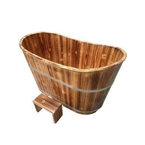 Bathtub PHTW HTZ Baignoire Adulte Baignoire Ménage Épaissir Bois Adulte Baignoire De Massage 160x60x65CM Brun 6 Ans Ou Plus (Taille : 150 * 60 * 65cm)