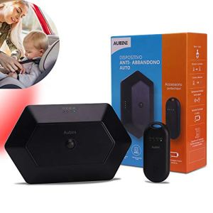 Dispositif anti-abandon auto avec porte-clés de voiture, alarme sonore, visible, sans téléphone portable, dispositif anti-abandon pour bébé, enfants de voiture, noir