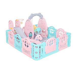 GYH Clôture de sécurité, Slide Baby Clôture Accueil Bébé Intérieur Ramper Mat Clôture de Jeu pour Enfants en Bas âge (#) ( Color : A )
