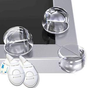 HAPPY CHLEA® 12 Coin de Table Protection Bebe – Protecteurs d'Angle de Sécurité pour Enfants et Bébé – EN CADEAU 2 sécurité placard enfants et 6 Autocollants Supplémentaires (12)