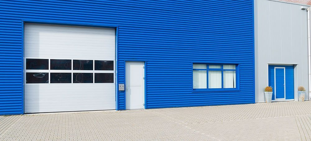 Warehouse Doors with ZoneSafe Vehicle Acccess Control and Personnel Access Control Fitted