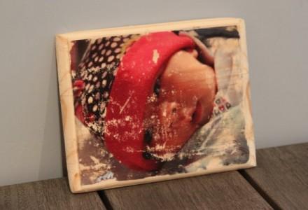 Transfert de photo sur bois