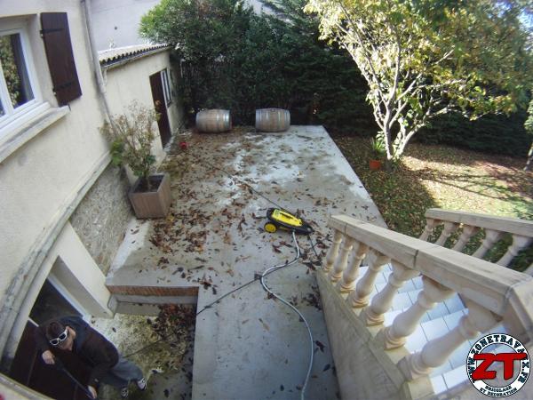 Timelapse nettoyage d 39 une terrasse au k rcher for Nettoyage d une plancha