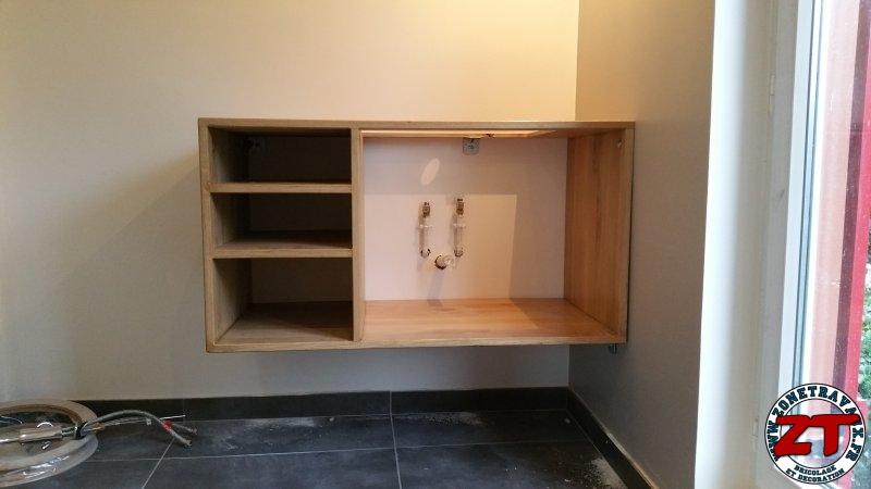 fabriquer meuble vasque salle de bain 60 zonetravaux bricolage d coration outillage. Black Bedroom Furniture Sets. Home Design Ideas