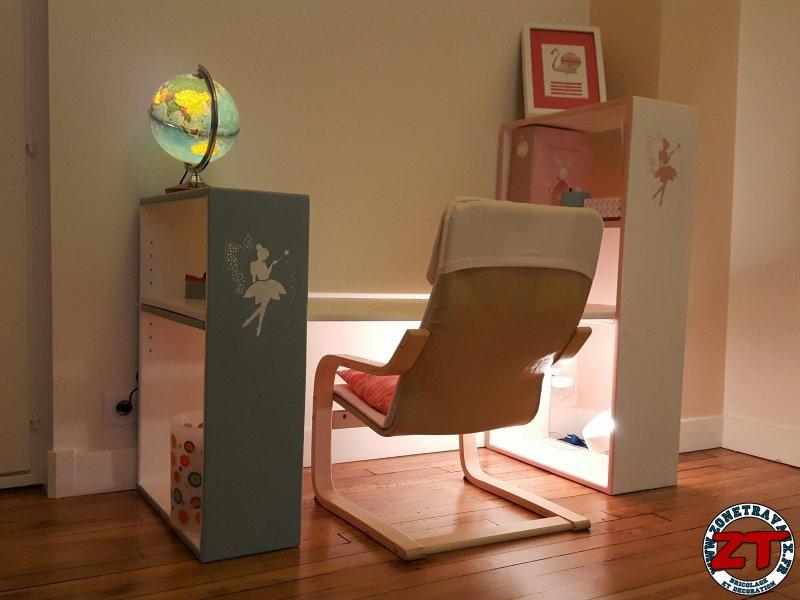 tuto dyi fabriquer un bureau d 39 colier volutif avec tag res. Black Bedroom Furniture Sets. Home Design Ideas