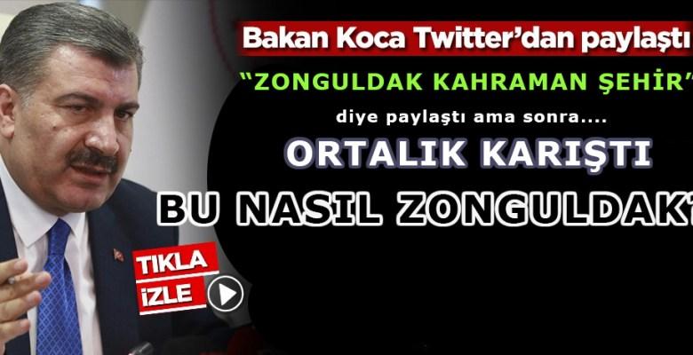 Bakan Koca Zonguldak'ı Kahraman Şehir İlan Etti, Ortalık Karıştı