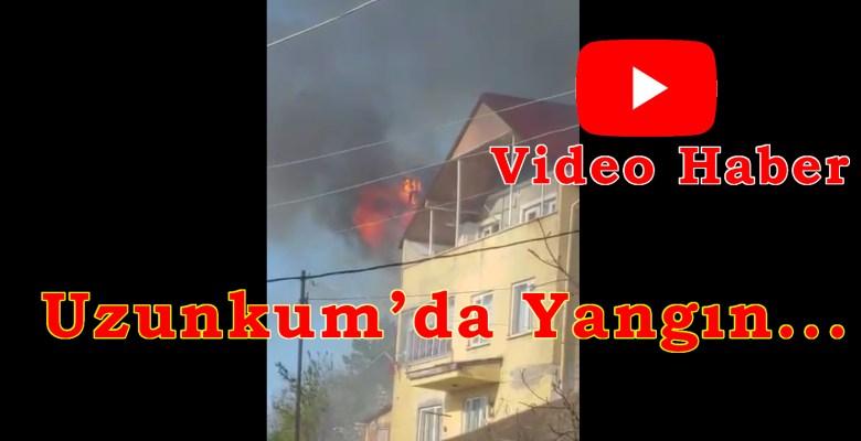 Uzunkum'da Yangın! Tüm Mahalle Duman Altında