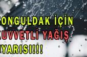 """Zonguldak İçin """"Kuvvetli Yağış"""" Uyarısı"""