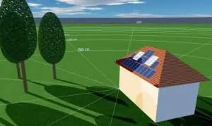 zonnepanelen schaduw berekenen
