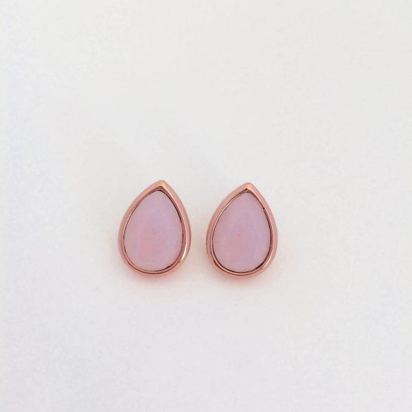 Oorbellen met Swarovski (roze, rose goud)