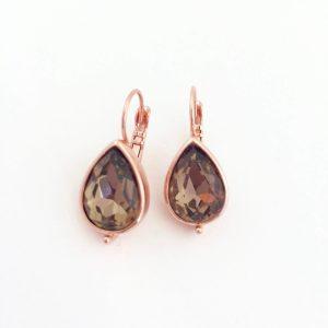oorhangers-met-swarovski-donkerbruine-kristal-rosegoudkleurig