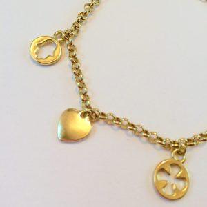 armband met bedels goud