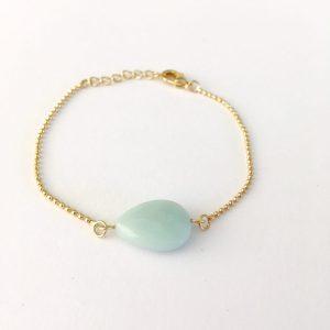 Armband met jade goud