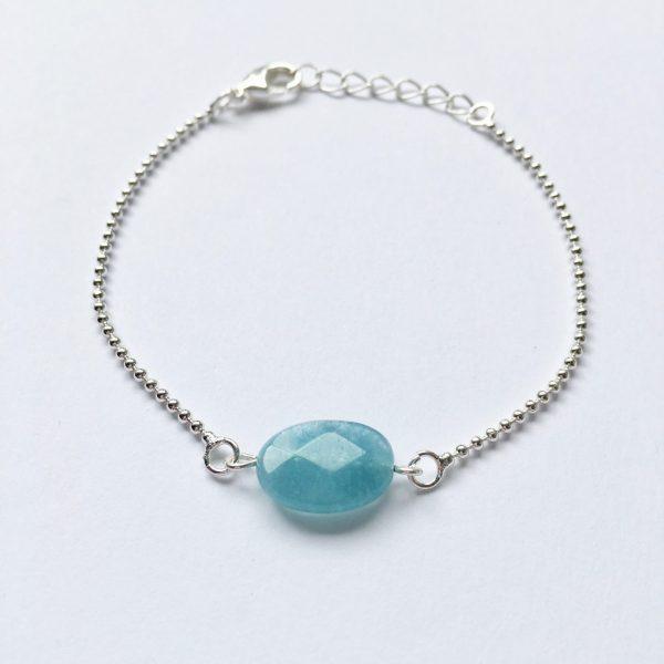 Armband met jade zilver edelsteen armbandje