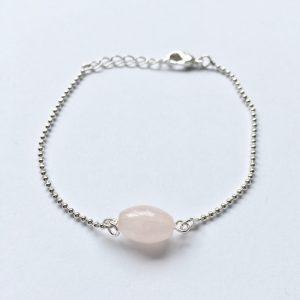 Armband met rozenkwarts edelsteen armbandje