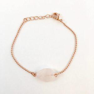 Armband met rozenkwarts rose goud