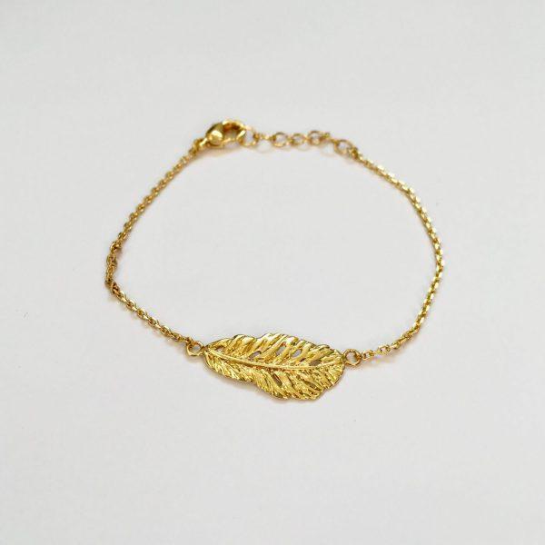 Metalen armband blad goud