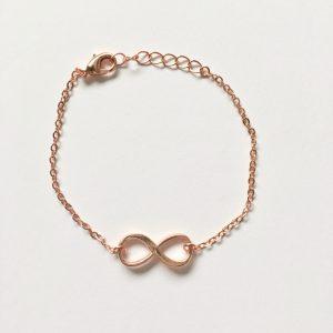 Metalen armband infinity (rosé goud)